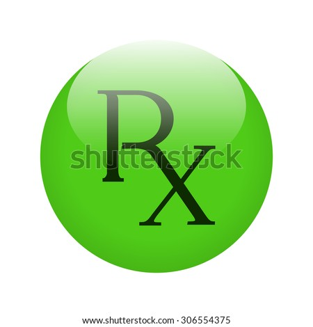 Rx Button Shiny Green Button Rx Stock Vector 306554375 Shutterstock