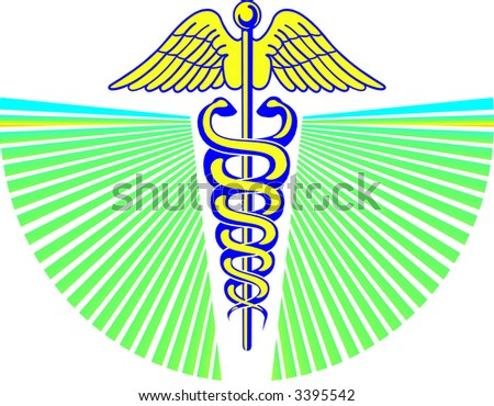 rx medical emblem - stock vector