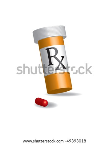 RX Pills - stock vector