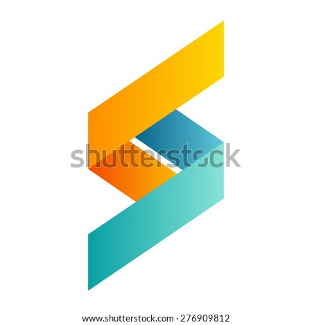 S letter logo, volume icon design template element  - stock vector