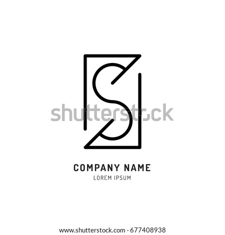 S logo s letter icon outline design stock vector 2018 677408938 s logos letter icon outline design vector illustration isolated on white bacground altavistaventures Image collections
