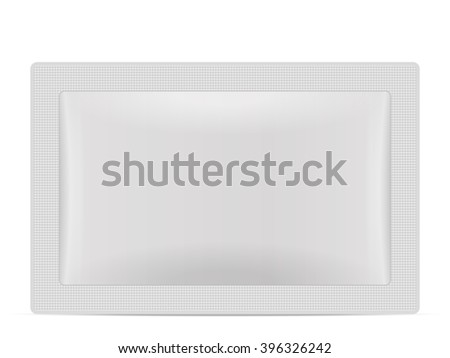Sachet packaging on a white background.