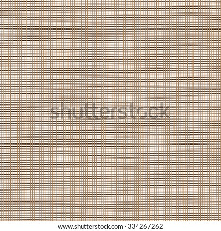 Sacking. Brown background imitating fabric. Vector Illustration - stock vector