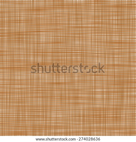 Sacking. The brown background imitating fabric - stock vector