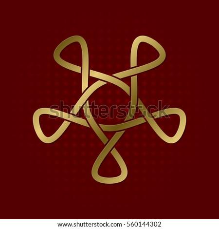 Sacred Geometric Symbol Five Petals Plexus Stock Vector Hd Royalty