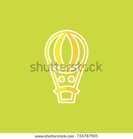 Sad Balloon Logo Design Bad Ballon Stock Vector 724787905