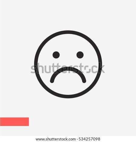 Sad face icon 534257098 shutterstock sad face icon voltagebd Images