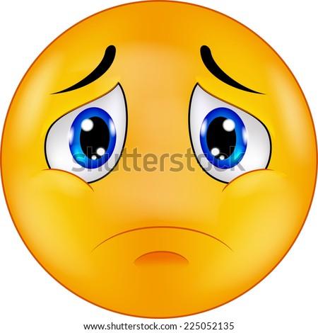 Sad Smiley Emoticon Stock Vector 225052135 - Shutterstock