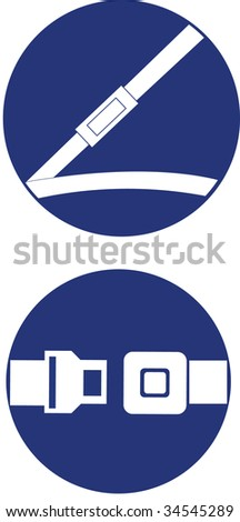 safe belt - stock vector