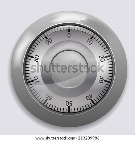 Safe combination lock wheel - stock vector