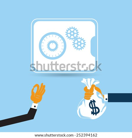 safe deposit box in flat design style. - stock vector