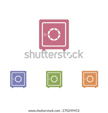 Safe icon - stock vector