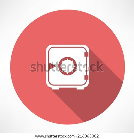Safe vector icon - stock vector