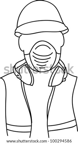 Safety at work - stock vector