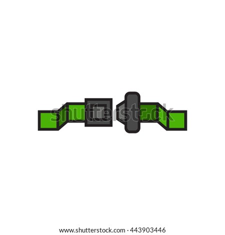 Safety belt line icon
