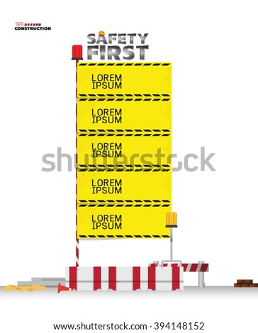 Safety Board - stock vector