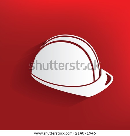 Safety design on red background,clean vector - stock vector