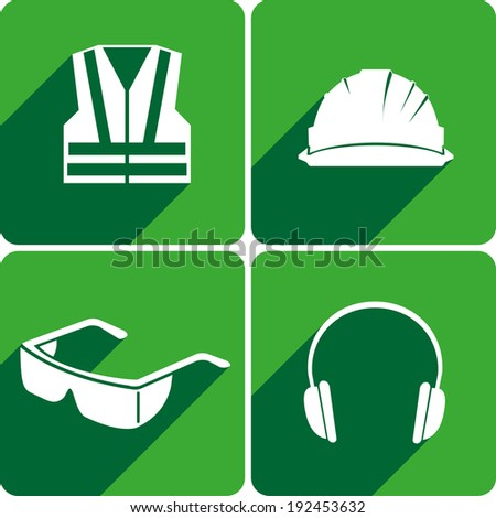 safety first sign - stock vector
