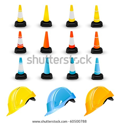 safety cones vector traffic cone hard hat stock vector 306090257 shutterstock