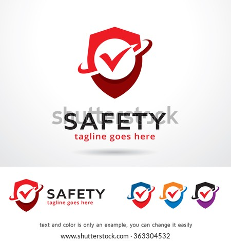 safety logo template design vector stock vector hd (royalty free