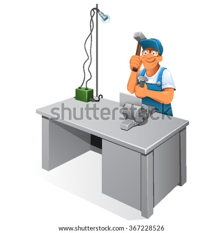 Safety Manual Workework Bench Grindersmachinery Stock Vector