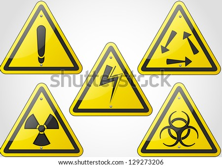 safety sign icon - stock vector