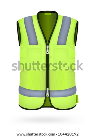 Safety vest isolated on the white. - stock vector