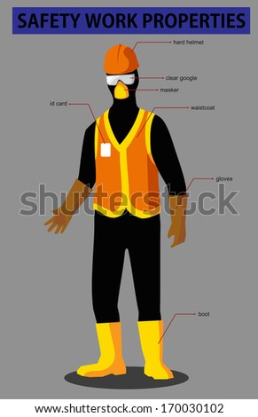 safety work utility - stock vector