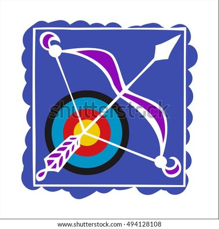Sagittarius Horoscope Symbol Zodiac Sign Stock Vector 494128108