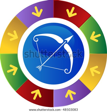 Sagittarius web button isolated on a background
