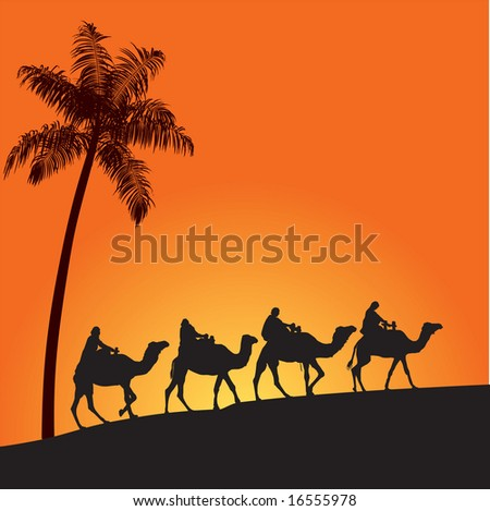 Sahara lifestyle 5 - stock vector