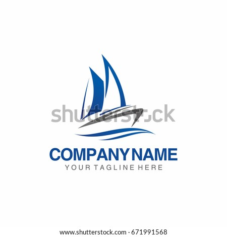 sail boat yacht template logo stock vector royalty free 671991568