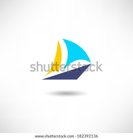 Sail icon - stock vector