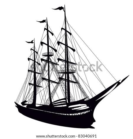 sailboat - stock vector