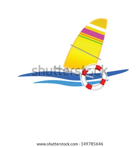 sailboat icon vector illustration on a white background