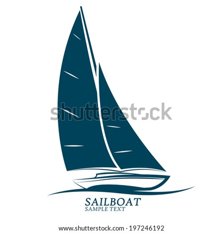 Sailboats Vectorillustration Stock Vector