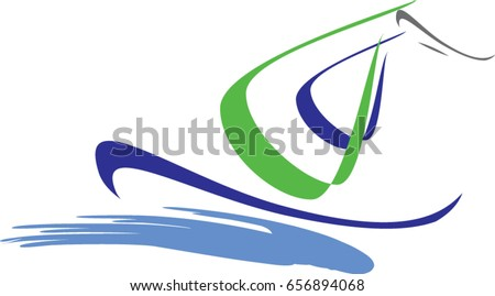 sailing boat logo creative vector design stock vector 656894068