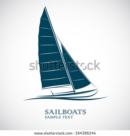sailing boats vector illustration - stock vector