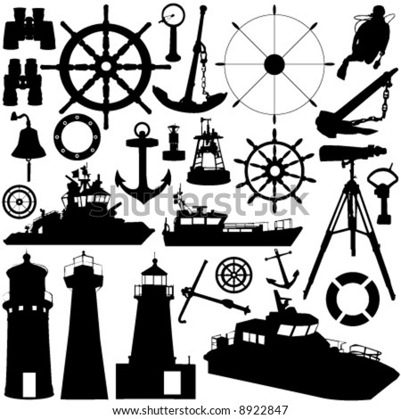 sailing object vector - stock vector