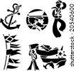 sailor icon - stock vector