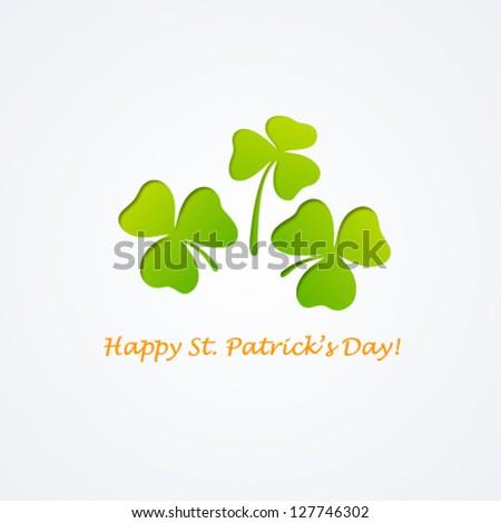 Saint Patrick's day background. Vector illustration. - stock vector