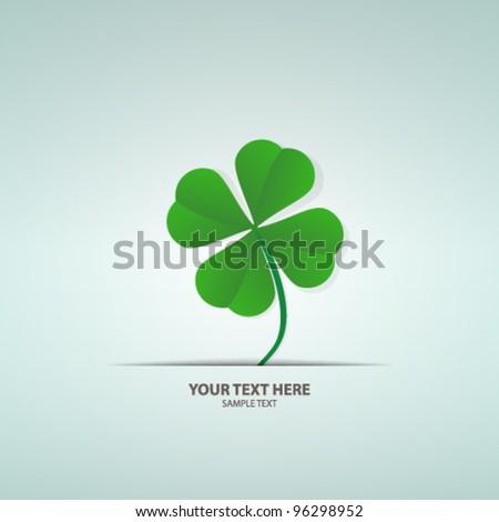 Saint Patrick's Day card - stock vector