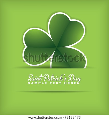 Saint Patrick's Day Design - stock vector