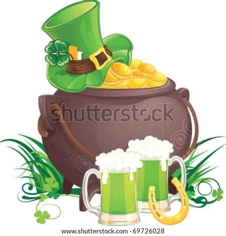 Saint Patrick's Day symbols - stock vector