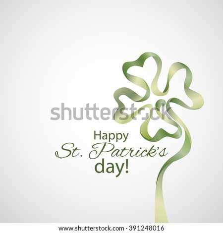 Saint Patrick's Day Typographical Vector Background - stock vector