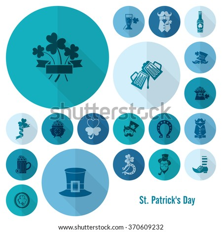 Saint Patricks Day Icon Set - stock vector