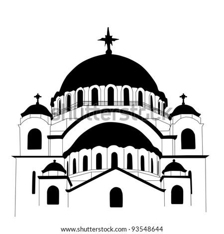 Saint Sava church vector - stock vector