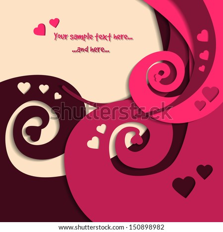 Saint Valentines Day Greetings Card Love Vector 150898982 – St Valentine Cards
