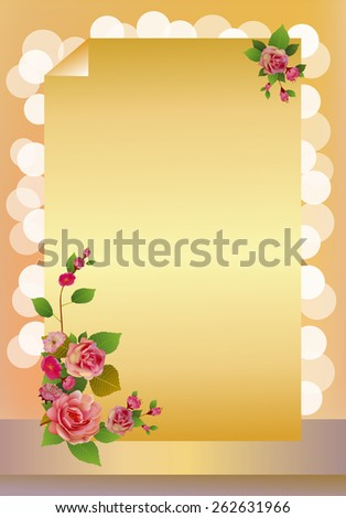sakura . postcard . - stock vector