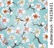 Sakura seamless pattern. EPS 10 vector illustration - stock vector